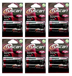 Tuscan 6 Packs of 12 pieces 2700mah AA 1.2V, Rechargeable Ni-Mh Batteries 2700 mAh AA Size