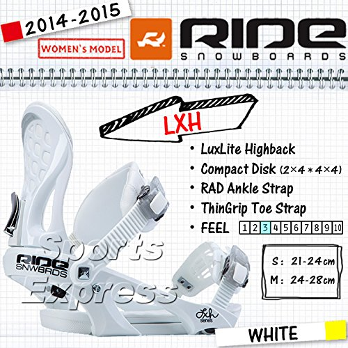 14-15 2015 RIDE SNOWBOARD LXH White ライドエルエックスエイチ 「並行輸入品」 S