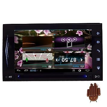 Autoradio 6,2 pulgadas Android 4.4.4 PC Doble 2 EstšŠreo con pantalla tš¢ctil Soporte de DVD del coche del dinar reproductor de CD de navegaciš®n GPS Wifi capacitiva vidšŠo del estšŠreo audi