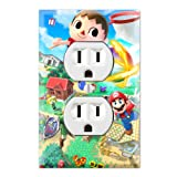 Duplex Wall Outlet Plate Decor Wallplate - Super Smash Bros Mario Animal Crossing Zelda Kirby (Color: Multicolored, Tamaño: Midway)