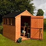 8' x 6' Walton's Select Apex Tongue and Groove Large Door Garden Shed
