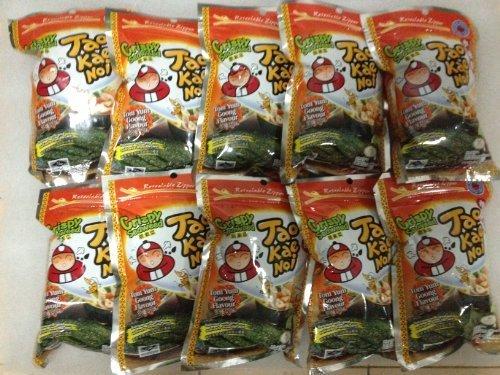 Wholesale : Tao Kae Noi Japanese Crispy Seaweed, Tomyum Goong Flavour (0.7 Oz X 10 Packs)
