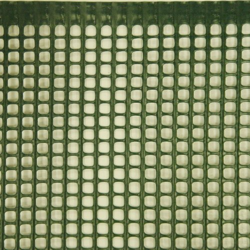 1m x 25m Plastic Mesh Garden Fencing Green (5mm x 5mm square hole). Mesh Fence Netting