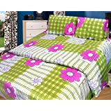 Cosmosgalaxy Cotton Double Bedsheet With Pillow Covers - Queen Size, Multicolor - B00SWKNOE4