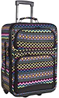 Ever Moda Designer Print 20-inch Expandable Carry On Rolling Luggage