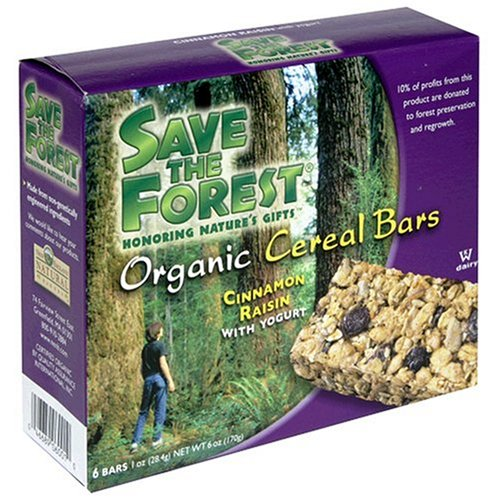 Buy Save The Forest Organic Cinnamon Raisin Cereal Bar, 6-Count Box (Pack of 6) (Save the Forest, Health & Personal Care, Products, Food & Snacks, Breakfast Foods)