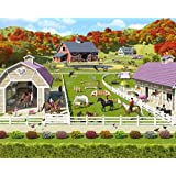 Walltastic Horse and Pony Stables Wallpaper Mural 8ft x 10ft