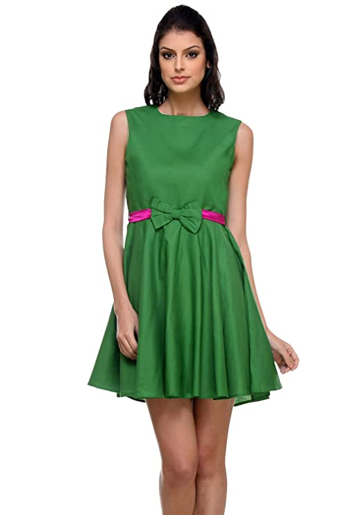 Kaaryah Women's Relaxed Dress 8R Green
