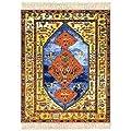 Lextra Antique Heriz, MouseRug, 10.25 x 7.125 Inches, Gold, Blue and Dark Orange, One (SAH-SE)