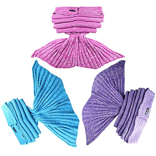 Maxchange Mermaid Blanket ,Super Soft Sleeping Bags ,Christmas,Birthday Holiday Gifts for All Seasons (Pink)