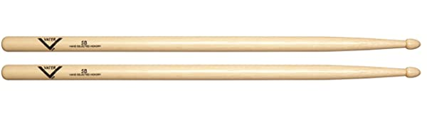 Vater VH5BW 5B Wood Tip Hickory Drum Sticks, Pair (Tamaño: 5b)