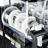 Bunn Ultra-2 HP Slushy / Granita Frozen Drink Machine with 2 Hoppers and Flat Lid - Black 120V (Bunn 34000.0013)