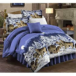 PDK/Regency Midnight Wolves Complete Bedding Set, Full