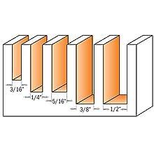 CMT 191.000.02 5-Piece Upcut Spiral Bit Set, 1/2-Inch Shank