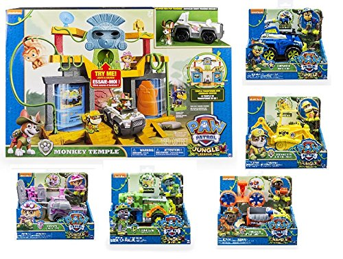 Paw Patrol Jungle Rescue Complete Set
