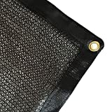 E.share 40% Black Shade Cloth Taped Edge with Grommets UV 10 ft X 20 ft