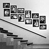 Elegant Arts & Frames Classic Set Of 12 Black Colour Family Wall Collage Photo Frames