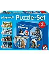 SCHMIDT - 56500 - 4 PUZZLES PLAYMOBIL 2 X 60 ET 2 X 100 PIECES
