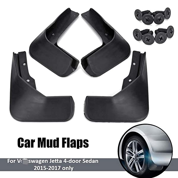 Front Rear Mud Flaps Splash Guards 2016-2017 Toyota RAV4 Mudguards