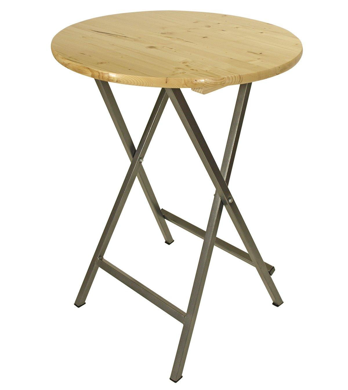 Stehtisch ZÜRICH 78cm rund, Stahlgestell + Holzplatte, klar lackiert günstig kaufen