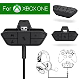 Xbox Stereo Headset Adapter Audio Game For Microsoft One Controller Dr - Chat And Synchronous One Stereo Headphone Accreate Best Converter (Color: Black)