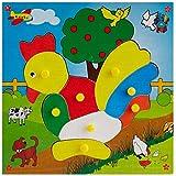 Skillofun Skillofun Theme Puzzle Standard Hen Knobs Multi Color