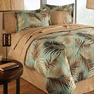 Amazon.com - Palm Tree Beach Tropical Coastal Queen Comforter Set