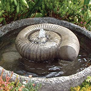 Garden Water Features Ammonite Fossil Fountain Reservoir Garden Outdoors