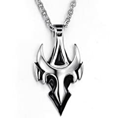 Men New Cool Pure Steel Pendant Necklace Top Grade Decent Jewelry Gift