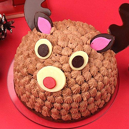 クリスマスケーキ 立体ケーキ「トナカイのショコラケーキ」 オーガニックサイバーストア