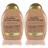 Organix Ever Straight Brazilian Keratin Therapy Shampoo and Conditioner Set, 13 Ounce Each (Tamaño: Shampoo & Conditioner 13 Oz)