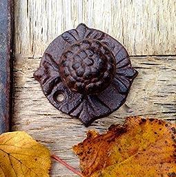 (20% DISCOUNT) Door Knobs (model 3)(hand painted), Cast iron door knobs, door knobs, iron door knobs, cast iron.