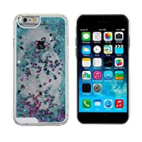 Bling Case for iPhone 6,Liquid Case for iPhone 6,Glitter Case for iPhone 6,MANBO Creative Design Flowing Liquid Floating Luxury Bling Glitter Sparkle Stars Hard Case for iPhone 6 4.7 inch - Blue by MANB