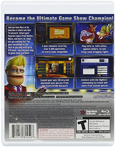 Games For Ps3 Only : Sony buzz quiz tv game only playstation software