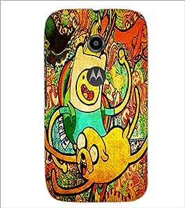 PrintDhaba Graffiti D-4843 Back Case Cover for MOTOROLA MOTO E2 (Multi-Coloured)