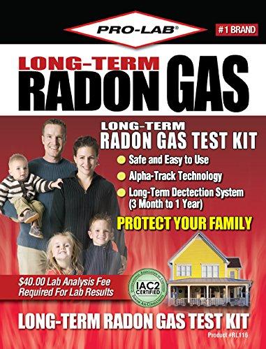 Pro-Lab RL116 Long-Term Radon Gas Test Kit (First Aid Carbon Monoxide compare prices)