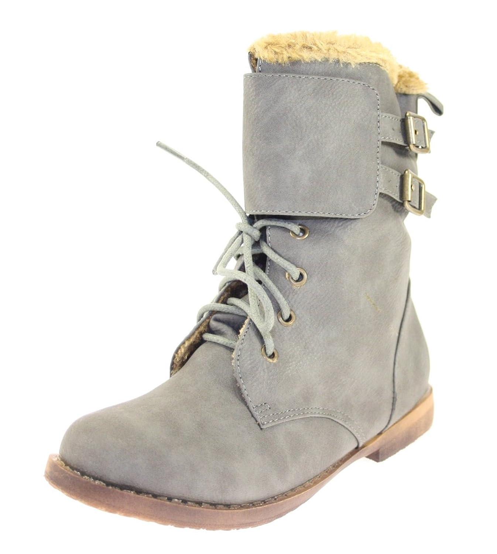 Boots / Stiefeletten Mädchen Farbe Grau gefüttert