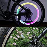 Lemonc 2 x Long LED Wheel Tyre Valve Cap Lights Car Bike Truck Push Bike