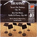 Brahms : Sextuor � cordes n�2 ; Trio...