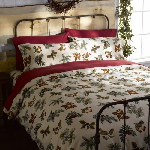 Gaiam Pincone Organic Cotton Flannel Duvet Cover Queen