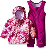 Columbia Baby Buga Snow Set, Bright Plum Watercolor, 12-18 Months