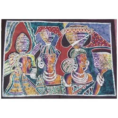 Amazon.com: African Batik - African Sisters By Theodore Asshola