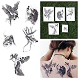 Tattify Surreal Animal Drawing Temporary Tattoos - Part of Her (Set of 10 Tattoos - 2 of each Style) - Individual Styles Available - Fashionable Temporary Tattoos (Color: A Part of Her Set)
