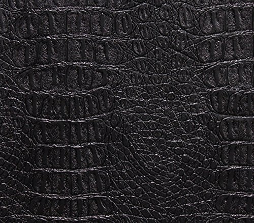 vinyl-fabric-crocodile-gator-black-fake-leather-upholstery-54-wide-sold-by-the-yard