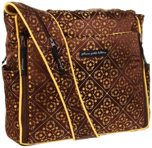 Petunia Pickle Bottom Messenger Bag,Toffee Roll,One Size front-841345