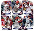2016 Topps Baseball Series 1 Philadelphia Phillies Team Set of 10 Cards: Jerad Eickhoff(#2), Ryan Howard(#15), Jeff Francoeur(#23), Alec Asher(#27), Odubel Herrera(#68), Aaron Harang(#115), Aaron Nola(#133), Darnell Sweeney(#157), Maikel Franco(#207), Car
