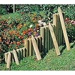 Palisade ø 8 cm 50 cm lang aus Holz imprägniert zur Beetumrandung von Gartenpirat®