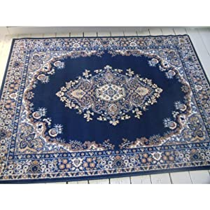 Persian Style Navy rug. 80x150cm Lancaster Traditional rug