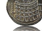 Colosseum Rom Eröffnungsmünze - Antike römische Münzen - Replikat - Forum Traiani - Römische Kolosseum Münze Sesterz hergestellt von Forum Traiani ® | Der Römer Shop