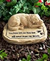 Dog Pet Memorial Stone
